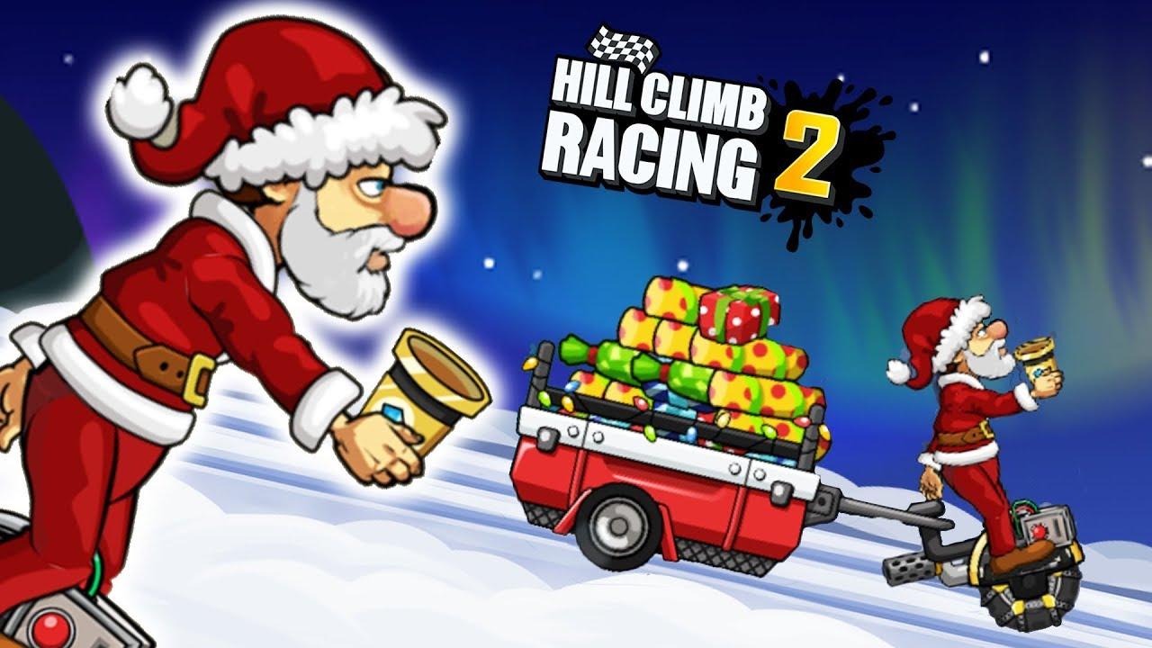 hill climb racing 2 santa claus ho ho ho gameplay - Santa Hohoho 2
