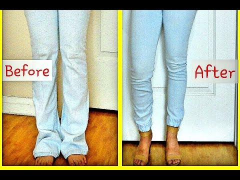 Diy Cuffed Jogger Pants/jeans Upcycle