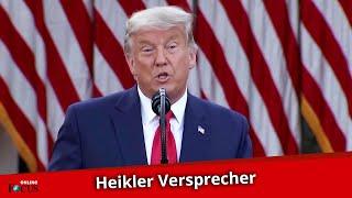 Donald Trump gesteht um ein Haar seine Wahl-Niederlage ein