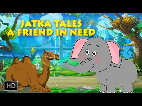 Jataka Tales  Short Stories for Children  A Friend In Need Elephant  Elephant Stories  Animated