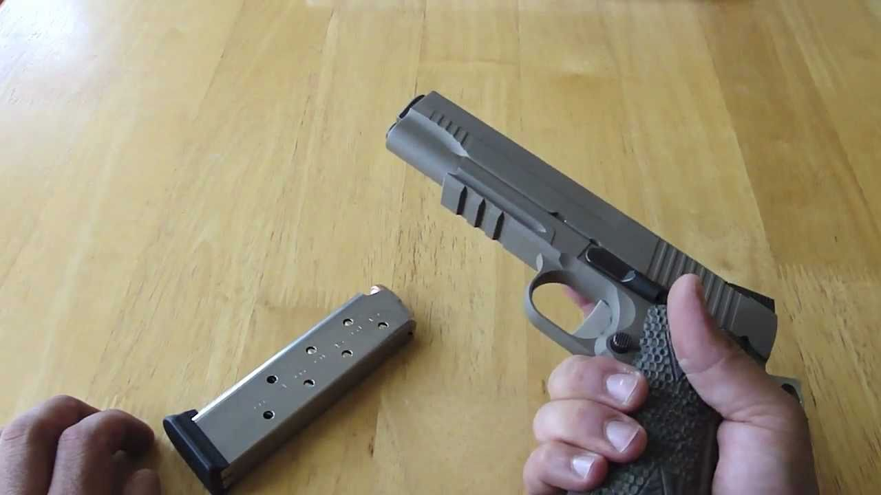 Sig sauer 1911 scorpion closer look disassembly youtube ccuart Gallery