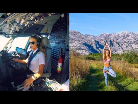 This Stunning Swedish Pilot Does Yoga Across the Globe, And Her Selfies Have Made Her A Sensation