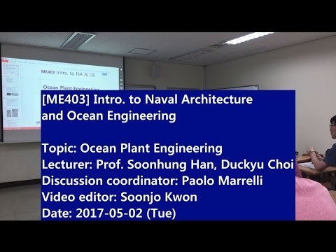 Introduction to Naval Architecture and Ocean Engineering : Ocean Plant Engineering