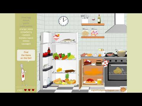 Game Kids -  ENGLISH FLASH GAMES For Learning Vocabulary  Food Game Part2