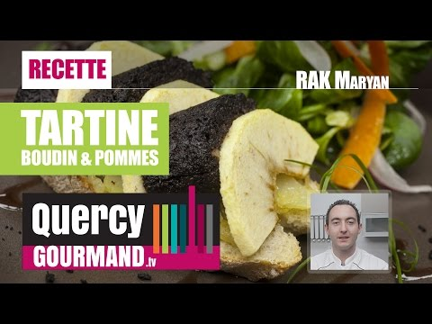 Recette : Tartine boudin & pommes – quercygourmand.tv