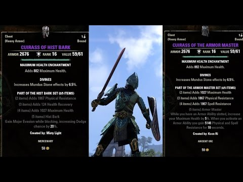 eso jewelry traits best in slot armor master vs hist bark for tanking gear in 8656