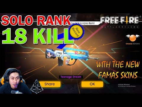 Free Fire Solo Ranked 18 Kill Kaleng Kaleng!! | Malaysia