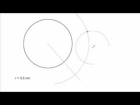 Circunferencia tangente a otra, conociendo un punto y su radio