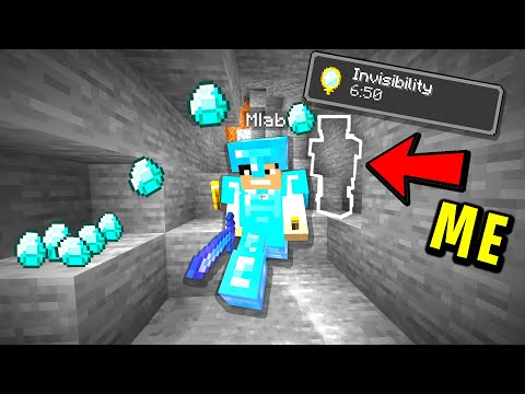 Trolling my new minecraft friend with invisibility