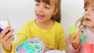 Laurinha e Helena brincando de esconde esconde com suas bonecas mini cry babies ❤️