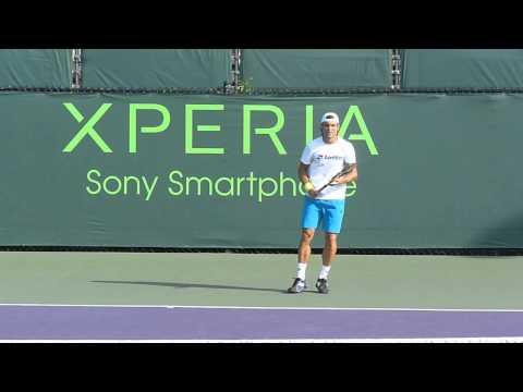David Ferrer practice, Miami - Sony Ericsson Open 2013.