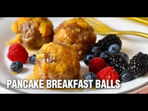 Pancake Breakfast Balls With Maple Syrup Recipe By Swaggerty's Farm®