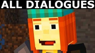 Help Petra Or Win The Race - All Dialogues - Minecraft: Story Mode Season 2 Episode 1
