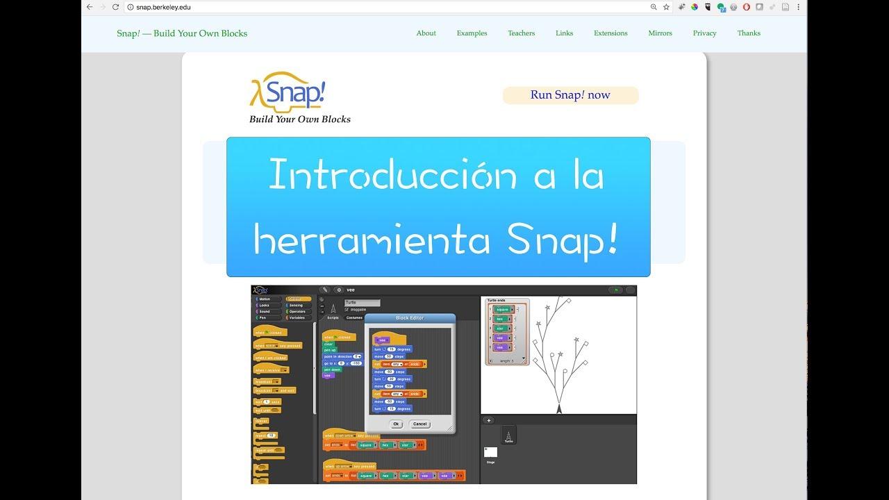 Snap! una herramienta muy potente de programación visual