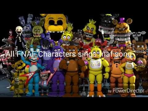 All FNAF Characters Sing The FNAF Song