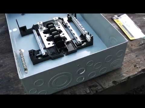 how to install a 100a sub panel 30 01