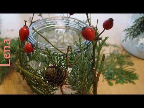 3-ideen-gläser-zu-gestalten---3-ways-to-decorate-christmas-jar---Новогодний-подсвечник-из-банки
