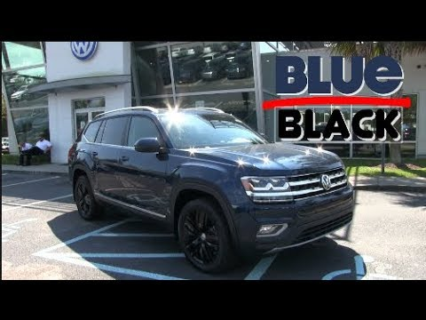 New 2018 VW ATLAS SEL with 20 INCH BLACK Wheels - Quick Review | Hurricane Atlas Sale - Sept 2017