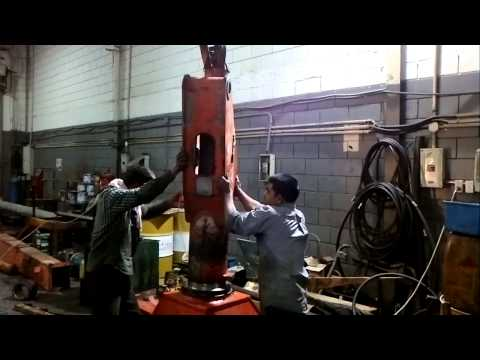Atlas crane boom repair