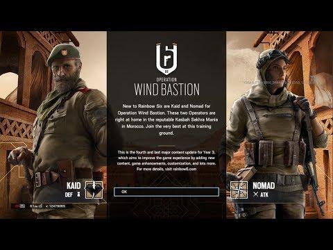 Rainbow Six Siege Operation Wind Bastion Start Up Screen Background Theme  Music Nomad Kaid Gameplay