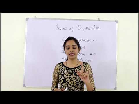 """forms of business organisation"" ""11th class chapter 2nd"" part-1फॉर्म  ऑफ़ बिज़नस आर्गेनाईजेशन"