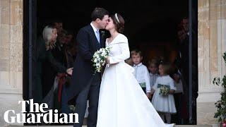 Princess Eugenie and Jack Brooksbank's first kiss at royal wedding
