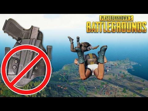 NO HOLSTER CHALLENGE - NO UTILITY BELT CHALLENGE - Playerunknown's Battlegrounds Gameplay