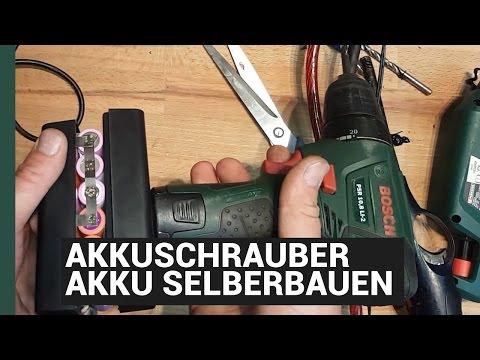 Ersatzakku selber bauen - Bosch Akkuschrauber Akku Tunen - aus 1,3Ah mach 8,8Ah