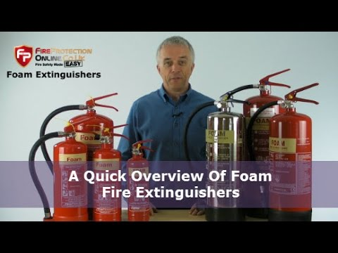 A Quick Overview Of Foam Fire Extinguishers