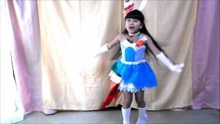 【華月9歳】キラキラ☆プリキュアアラモード 手作り衣装でキュアパルフェ&ビブリ―になりきってみた thumbnail
