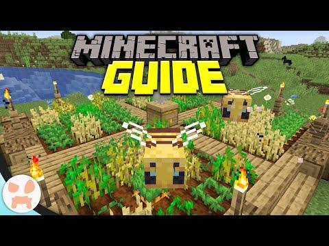 Efficient Bee Crop Farm! | Minecraft Guide Episode 4 (Minecraft 1.15.1 Lets Play)