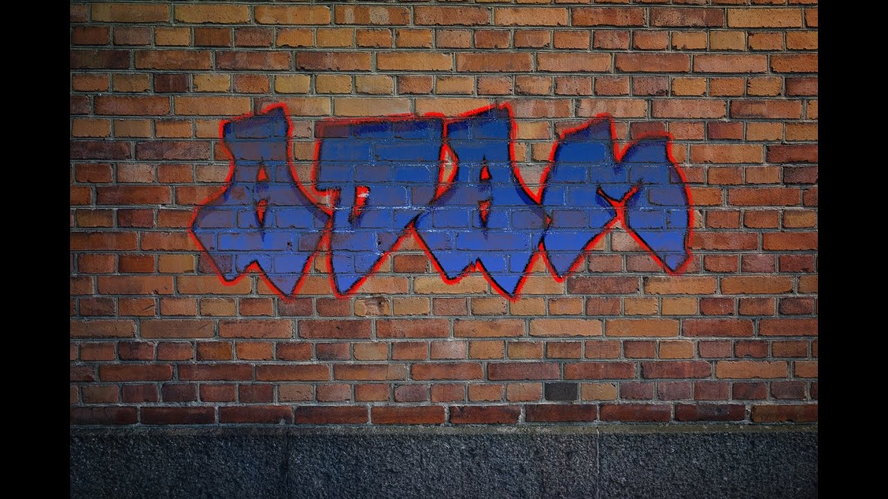 How to make graffiti in photoshop tutorial eng youtube baditri Gallery