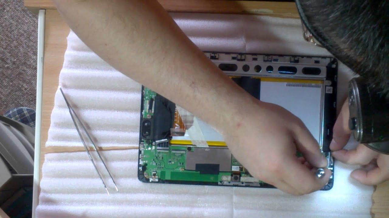 Ремонтируем планшет ASUS. Замена гнезда Micro USB - YouTube