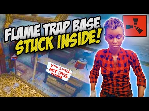 LOCKED INSIDE! ESCAPING A TRAP BASE! - Rust Co-op Survival