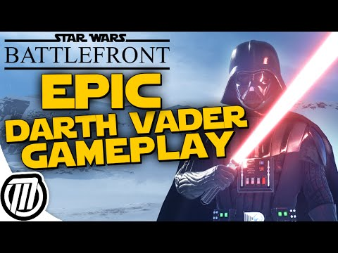 DARTH VADER GAMEPLAY!! Star Wars Battlefront 3 Hero Gameplay & Vader Overview (PC 1080p)
