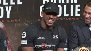 ANTHONY JOSHUA - '80,000 FANS AT WEMBLEY ...I'M RELAXED AND READY TO GO!'