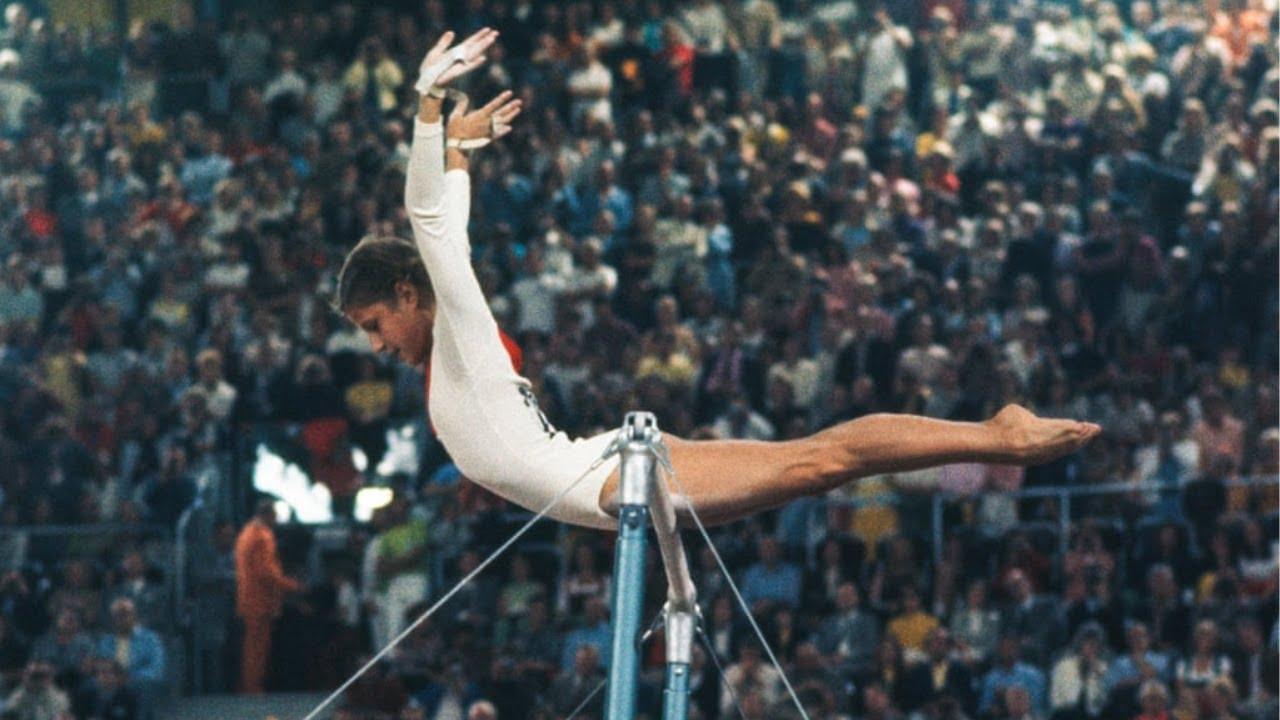 Olga Korbut nos Jogos Olímpicos de 1972