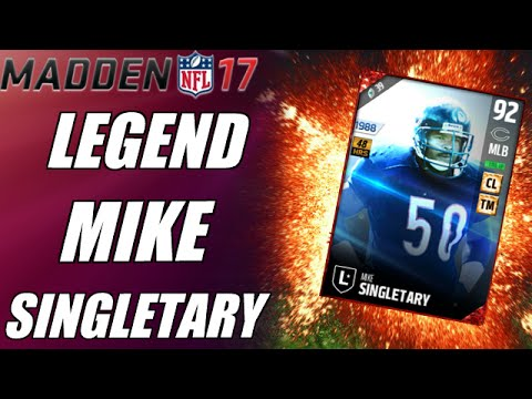 NEW LEGEND MIKE SINGLETARY GAMEPLAY! | MADDEN ULTIMATE TEAM PLAYER REVIEW