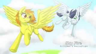 Sky Fire - FritzyBeat hugs SoaringFlight