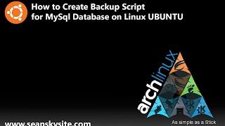 How to Create Backup script for MySql Database on Linux Ubuntu