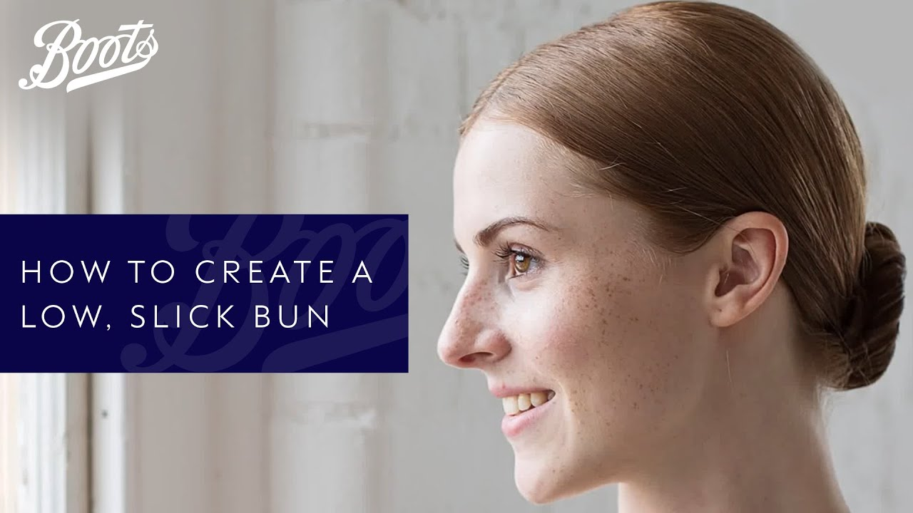Hair how to: Low slick bun  YouTube - Hairstyle For Thin Hair