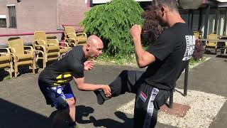 Inside Defense vs Kick with Amnon Darsa at Expert Camp, Institute Krav Maga Netherlands.