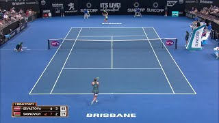 Sevastova vs Sasnovich Match Highlights (SF) | Brisbane International 2018