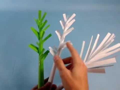 Manualidad para pequeños: árboles de papel - YouTube