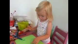 Ella Loves Her New Desk For Kids From Ikea. Its Just Her Size For Drawing And Other Projects.