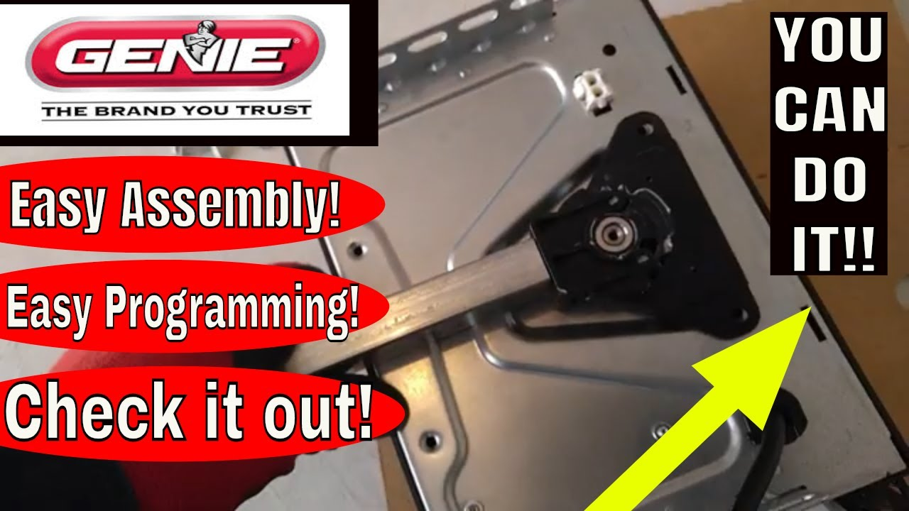Easy Install Programming Video Genie Stealth 750 Garage Door Opener Youtube