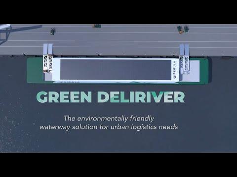 Projet Green Deliriver, solution logistique fluviale écologique, autonome et connectée