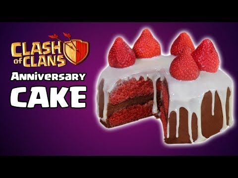 DIY CLASH OF CLANS ANNIVERSARY CAKE