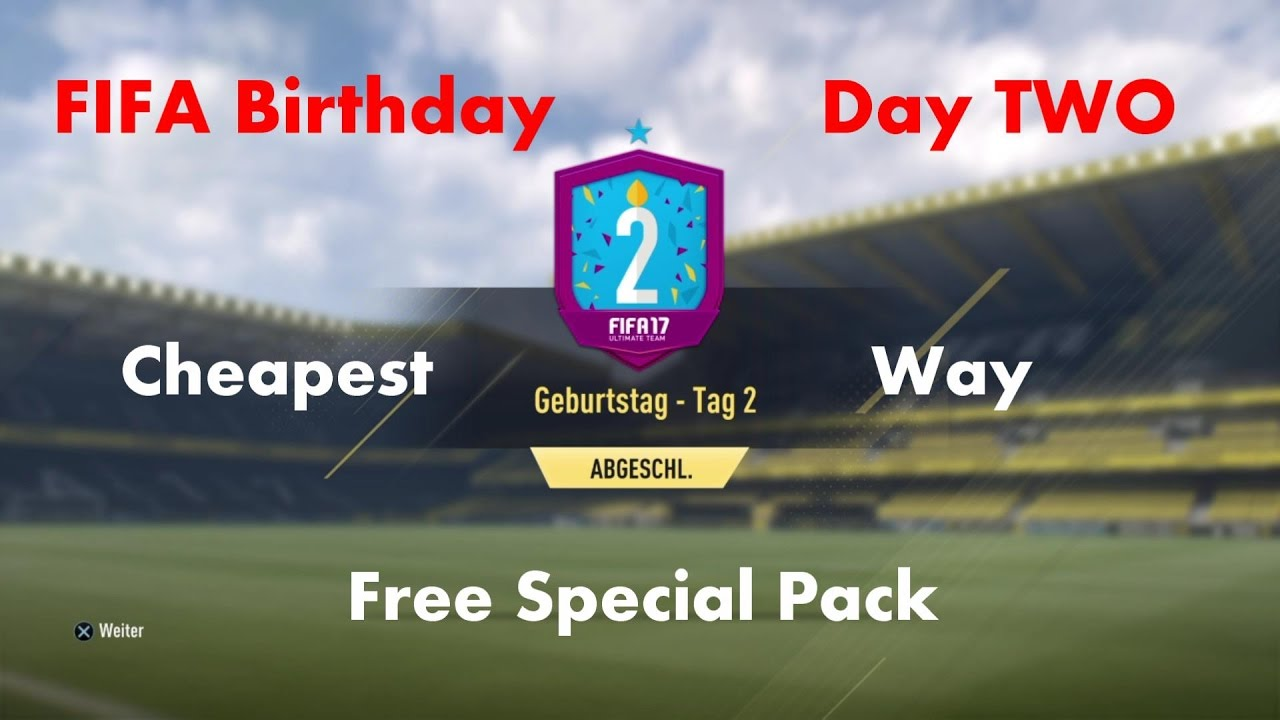 Fifa 17 Birthday Day 2 Geburtstag Tag 2 Squad Builder Challenge
