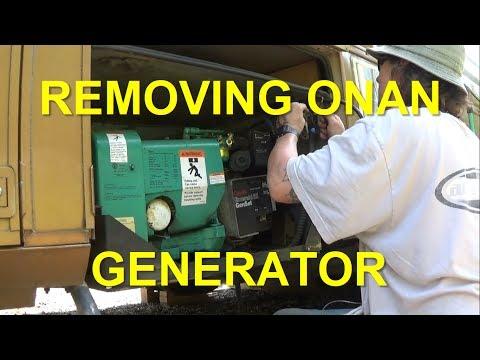 REMOVING ONAN 6 5KW GENERATOR FROM RV YouTube